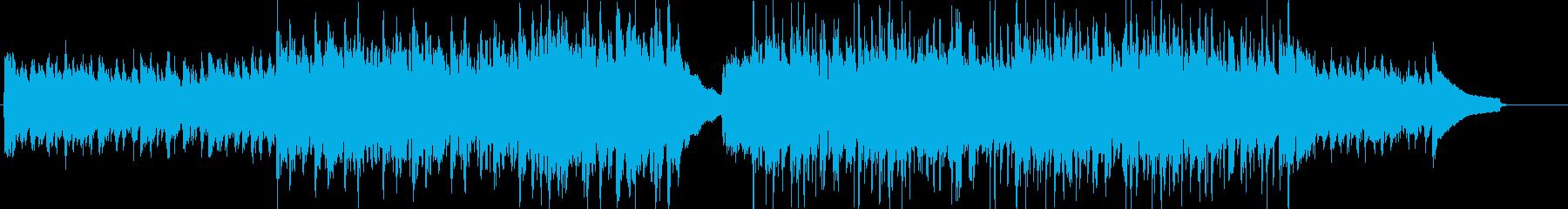 企業VPなどに適した躍動感あるBGMの再生済みの波形