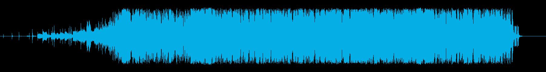 インダストリアル、かっこいいピアノシンセの再生済みの波形