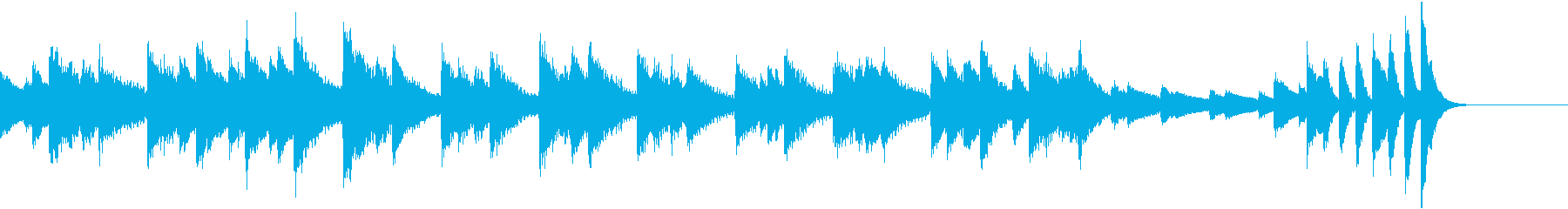 8分の6拍子異国情緒溢れるピアノジングルの再生済みの波形