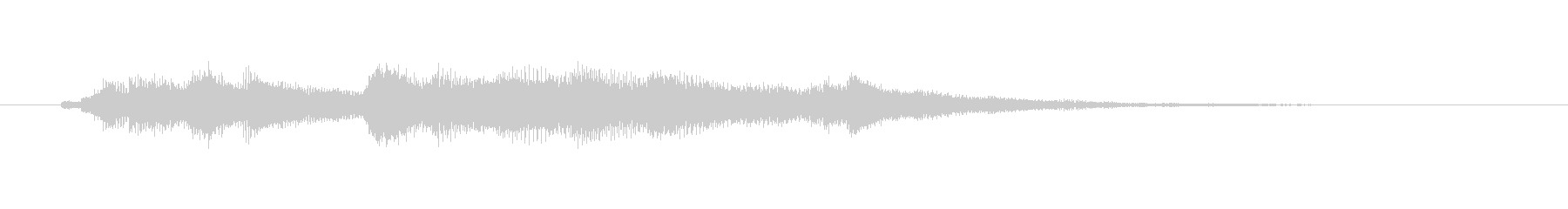 優しいイメージのオーケストラジングルの未再生の波形