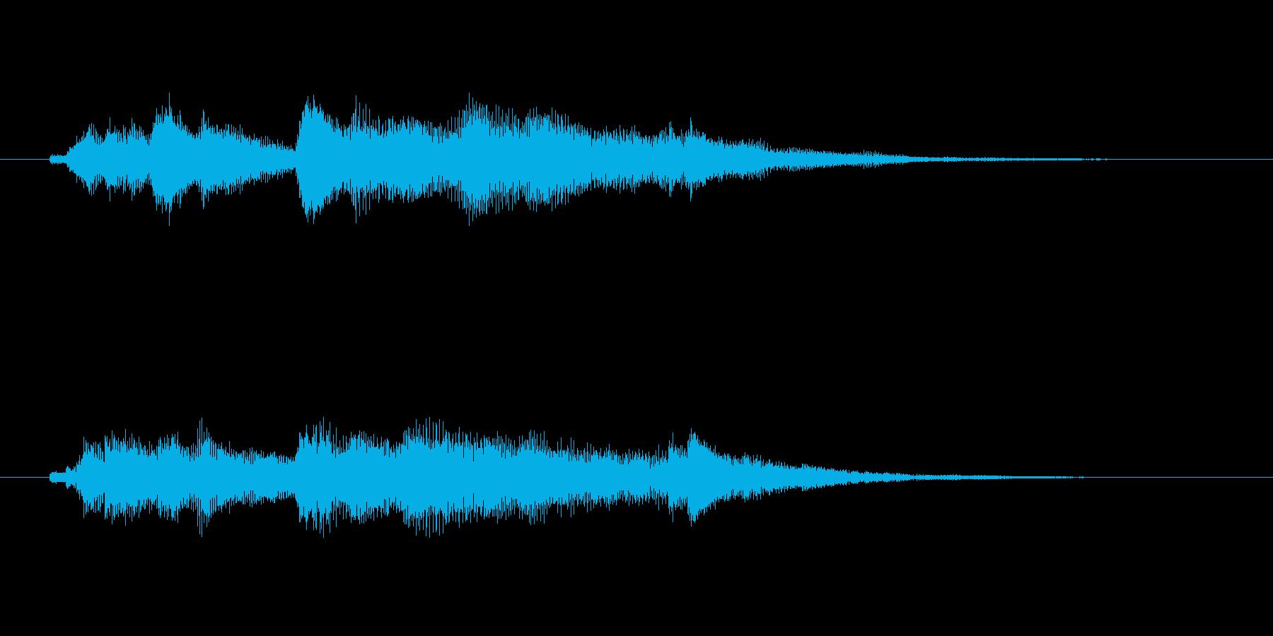 優しいイメージのオーケストラジングルの再生済みの波形