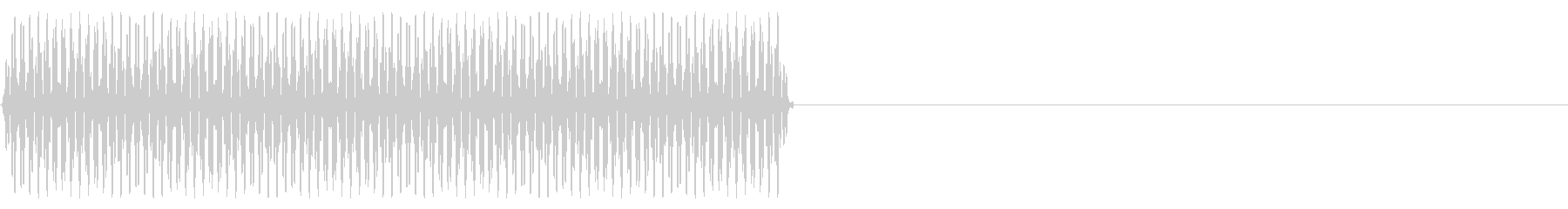 『ピッ』電話のプッシュ音(3)-単音の未再生の波形