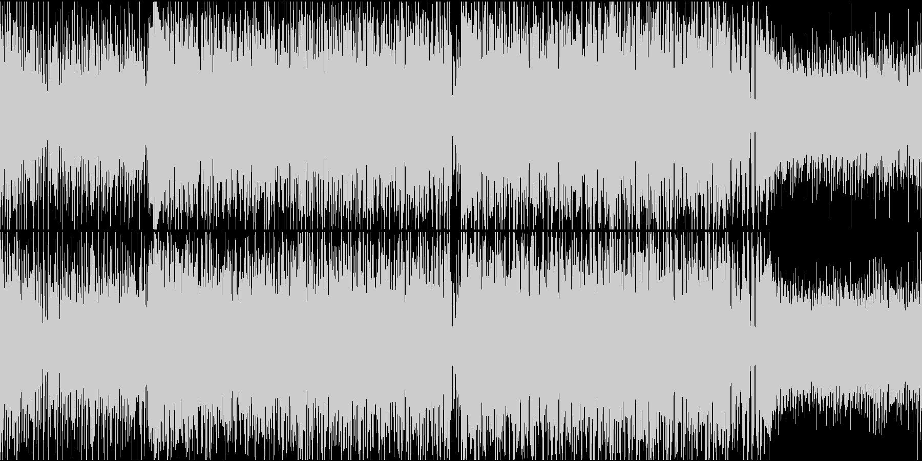 明るい晴れ気分のEDM(ハウス)の未再生の波形