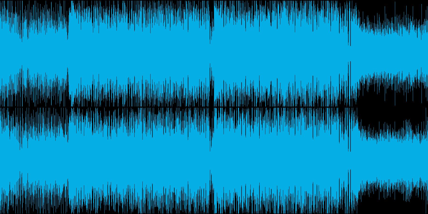 明るい晴れ気分のEDM(ハウス)の再生済みの波形