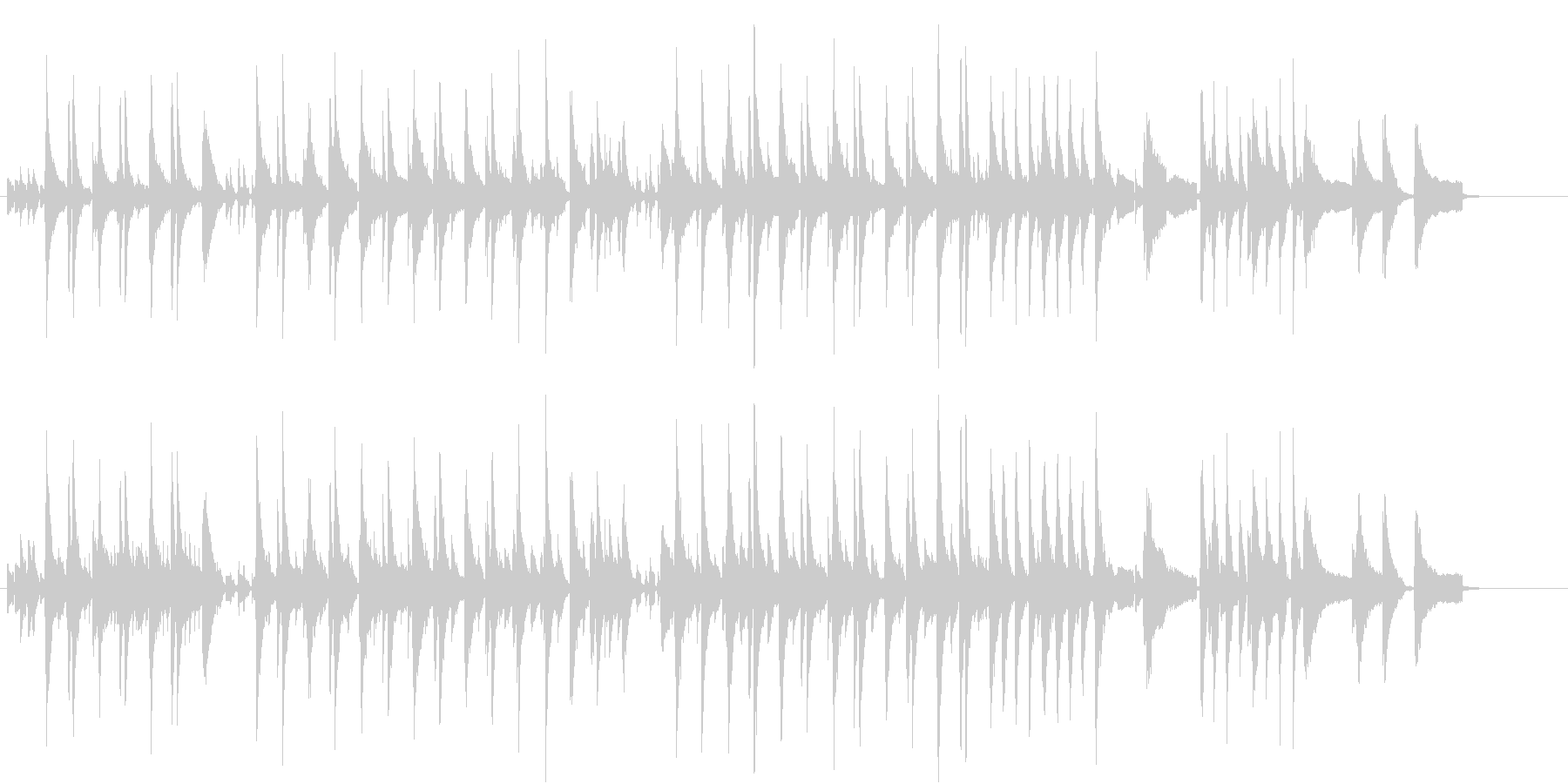 ウクレレによる夏のハワイアンインストの未再生の波形