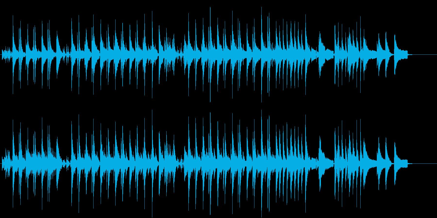 ウクレレによる夏のハワイアンインストの再生済みの波形