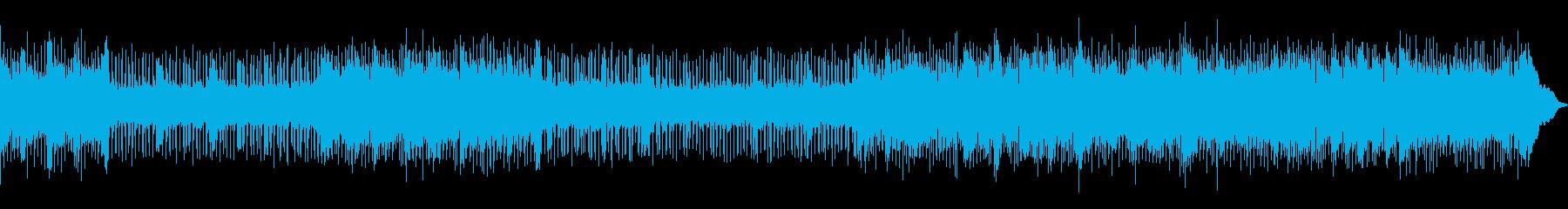 リズム感あふれるロックの再生済みの波形