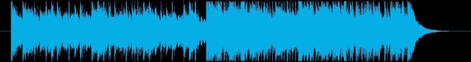 始まりを告げる派手めのジングルの再生済みの波形