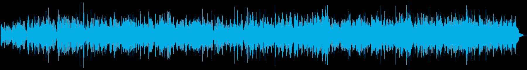 古い映像の背景に流れるクラシック調の再生済みの波形