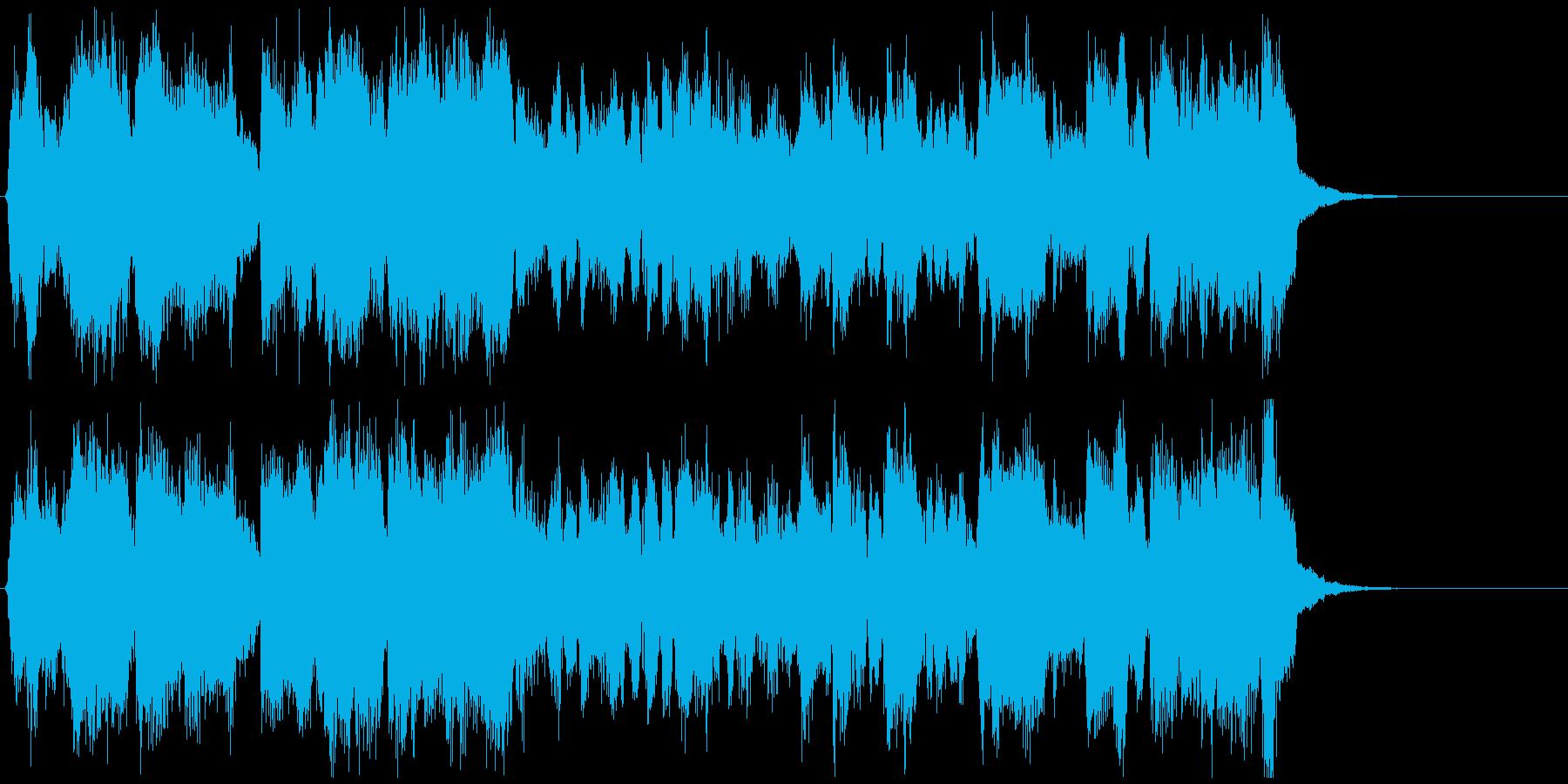 素敵なジャズフルート曲、15秒CM向けの再生済みの波形