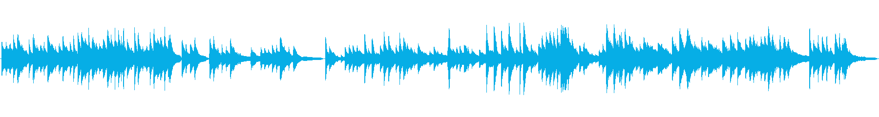 冬のように切ないピアノソロ、ループ音源の再生済みの波形