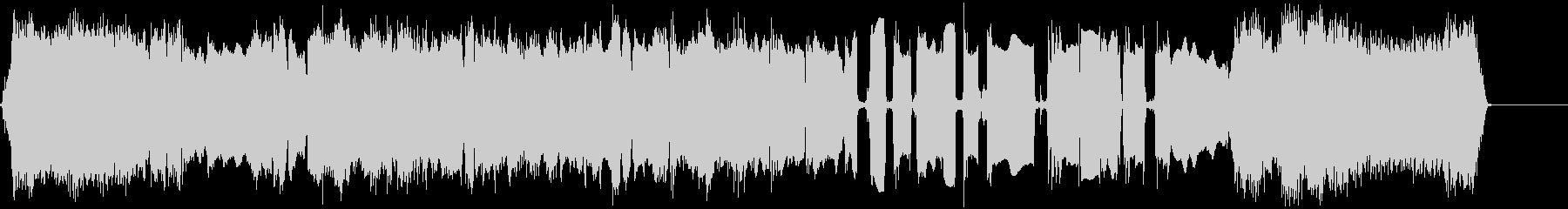 クールなエレキギターアイキャッチ4の未再生の波形