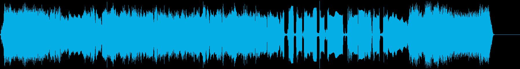 クールなエレキギターアイキャッチ4の再生済みの波形