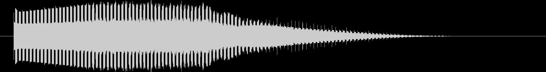 流れ星 UFOを思わせるアニメ風サウンドの未再生の波形