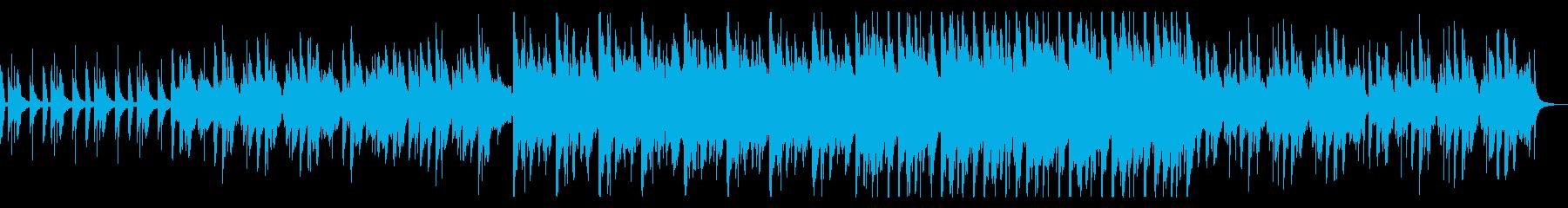 神秘的なエスニック風BGMの再生済みの波形