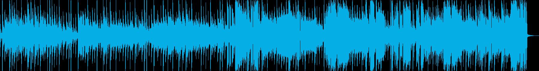 シンセリードをフィーチャーしたmusicの再生済みの波形