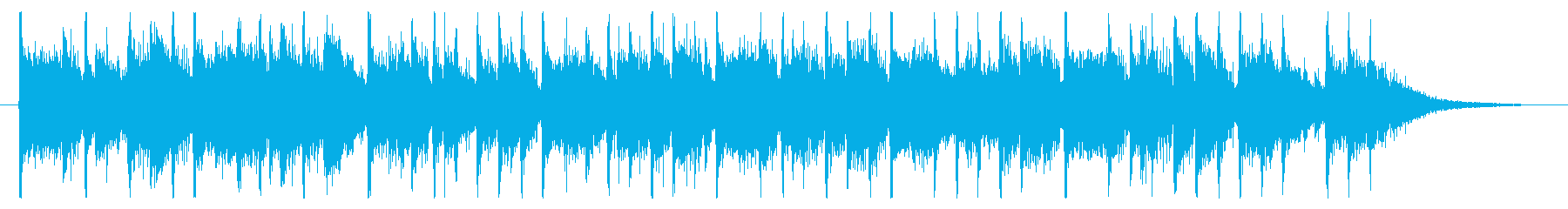 16秒程度のジングルの再生済みの波形