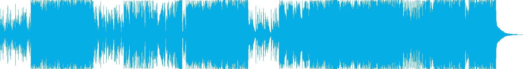 花火をイメージしたしっぽりEDMの再生済みの波形