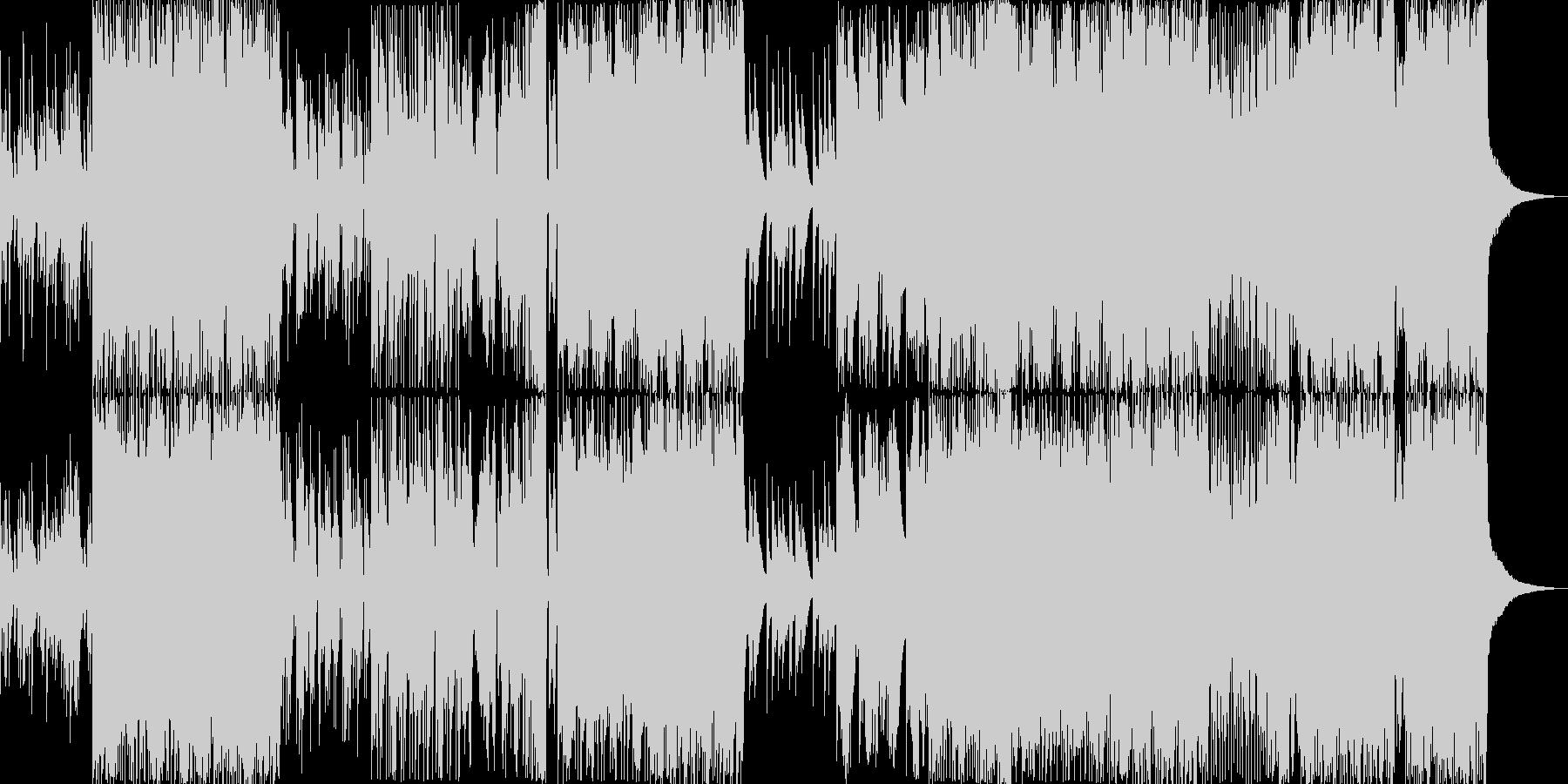 花火をイメージしたしっぽりEDMの未再生の波形