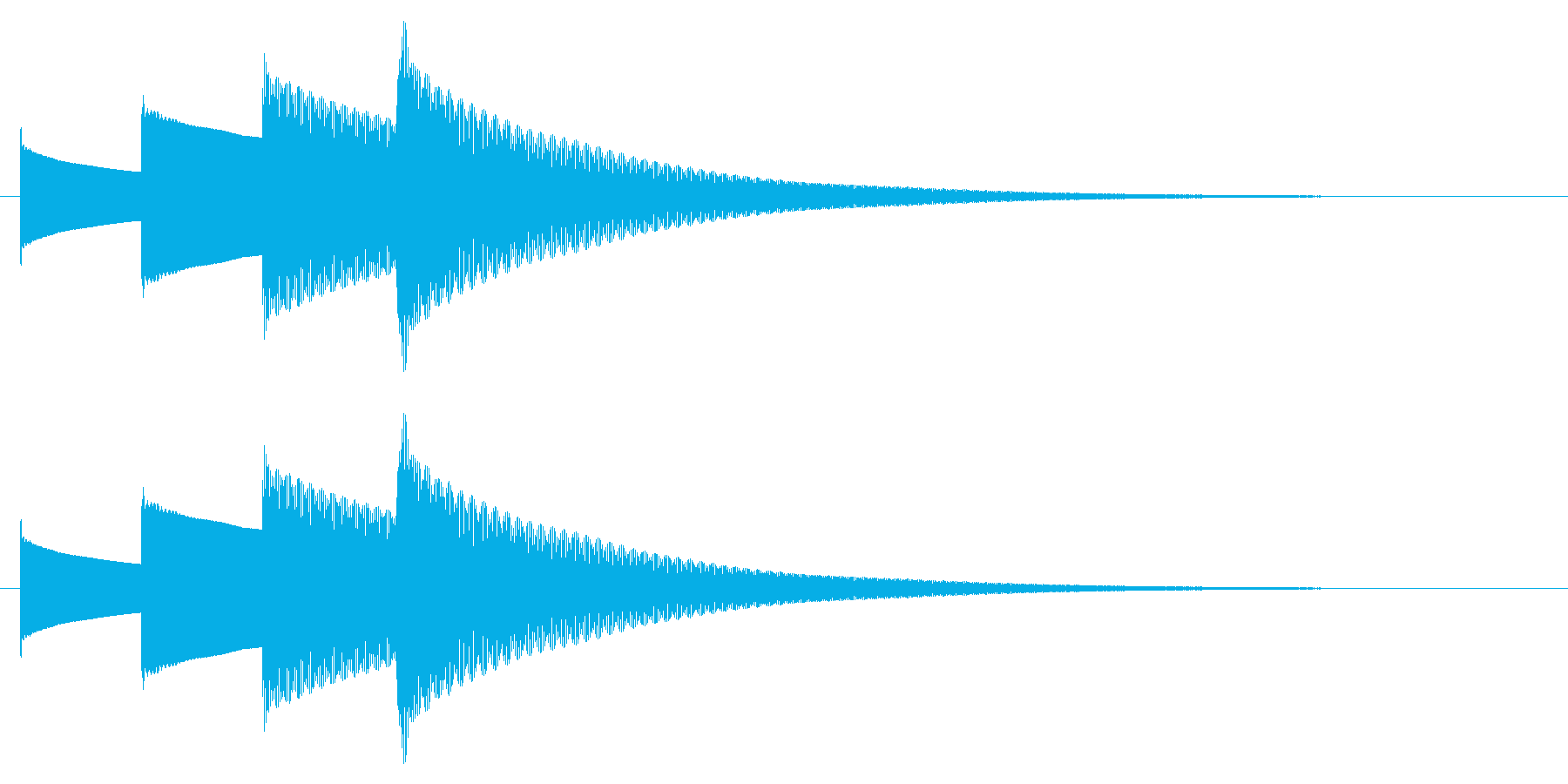 チャイム アナウンス09-8(4点 遅いの再生済みの波形