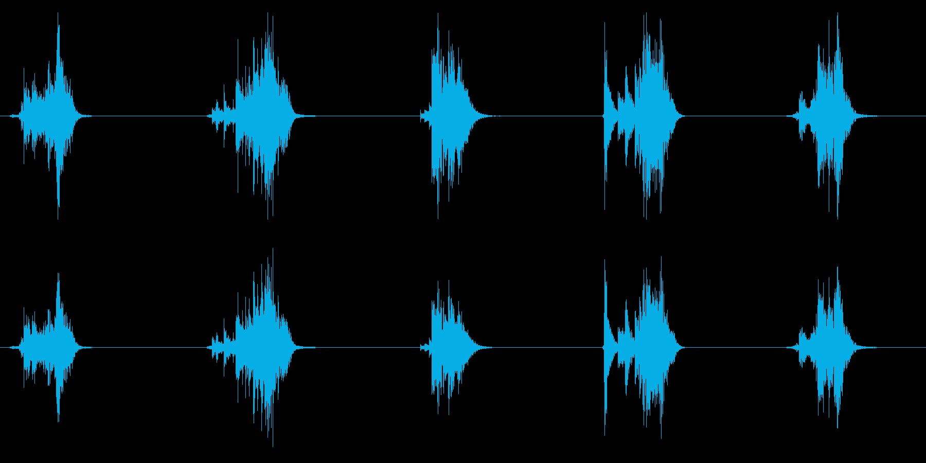 鍋、鍋、ふた巻きx5の再生済みの波形