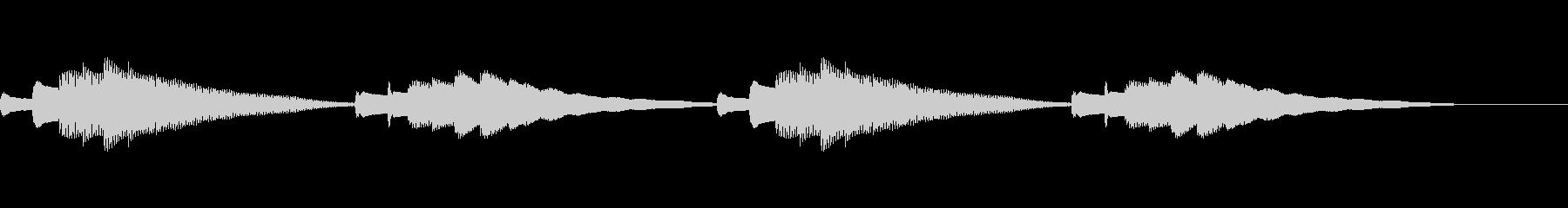 チェレスタの凶なテーマの未再生の波形