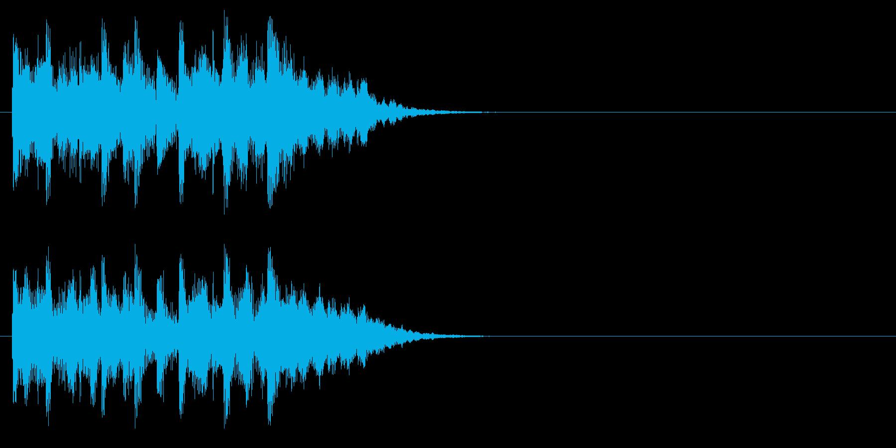 ジングル/アタック(爽やかなポップ)の再生済みの波形