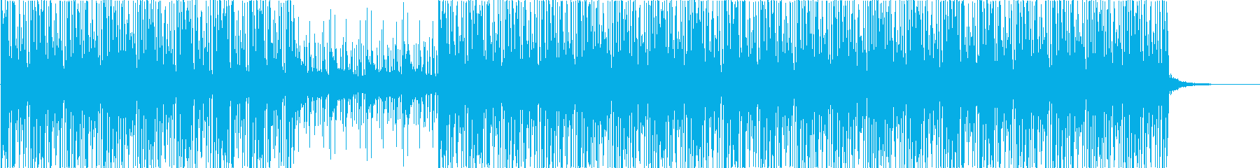 80s-90s style electronic music's reproduced waveform