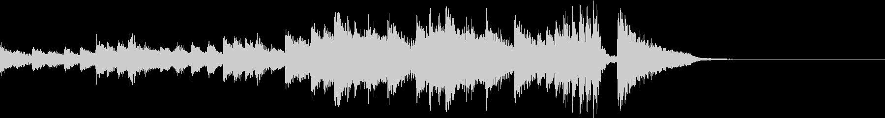 不穏で恐ろしいホラー的なピアノジングルの未再生の波形