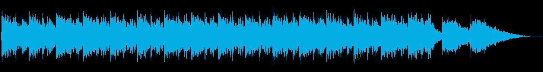 緊急事態感のあるシネマティックなBGMの再生済みの波形