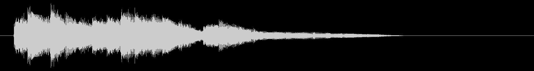 爽やかで優しいピアノジングルの未再生の波形