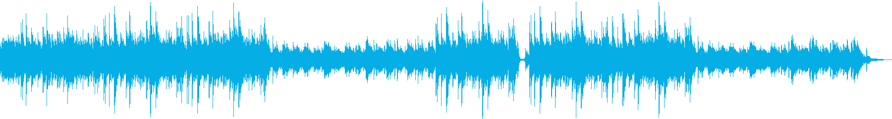 ピアノと弦楽器の静かなエレクトロニカの再生済みの波形