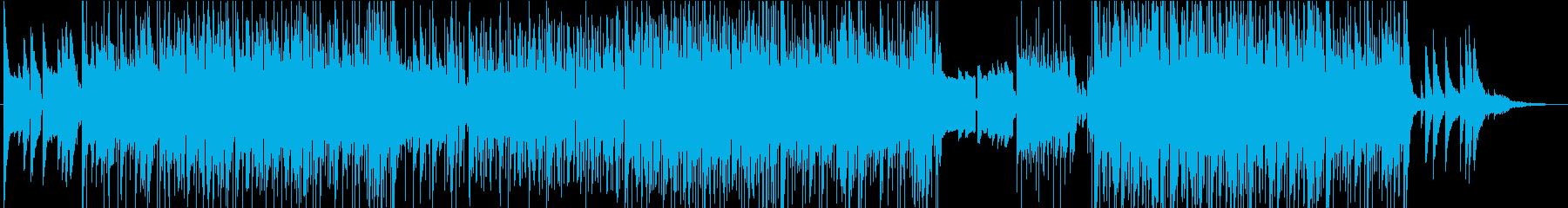 洋楽風のポップな曲の再生済みの波形