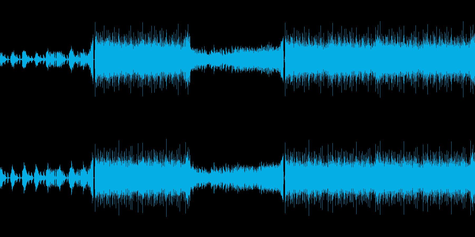 緊迫したホラー映像用BGMの再生済みの波形