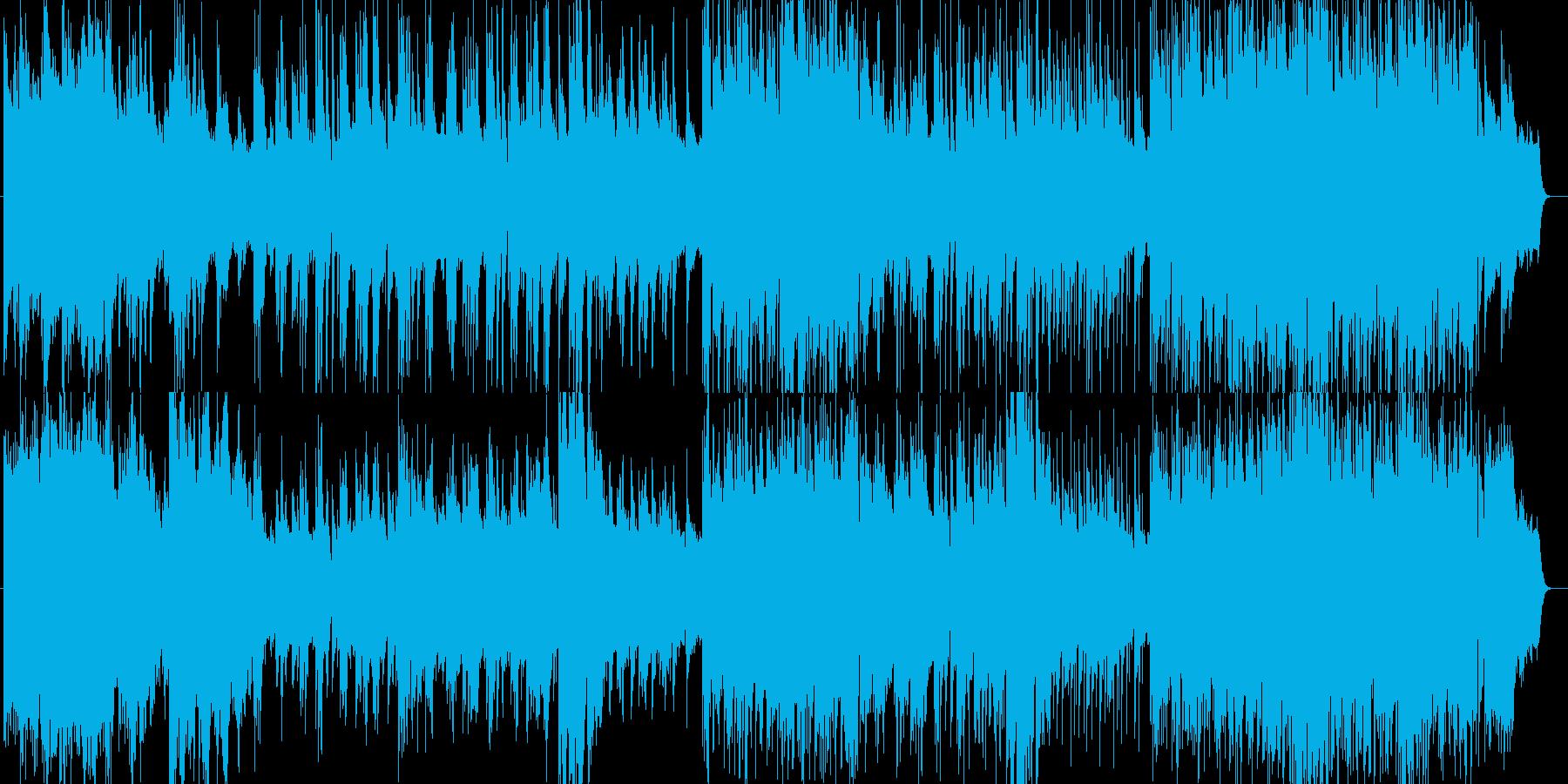 感動的で壮大なシンセ・ピアノ・管楽器曲の再生済みの波形