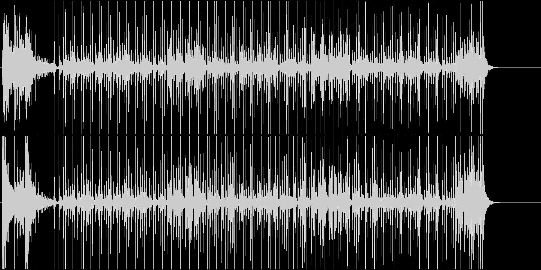 ほんわかチープでコミカルな和風BGMの未再生の波形