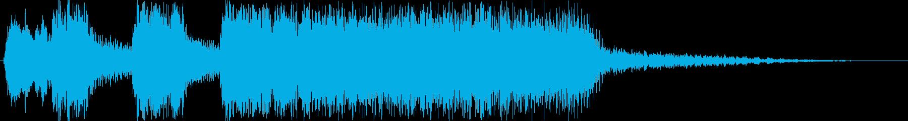 残念、失敗、負け、等に使えるサウンドロゴの再生済みの波形