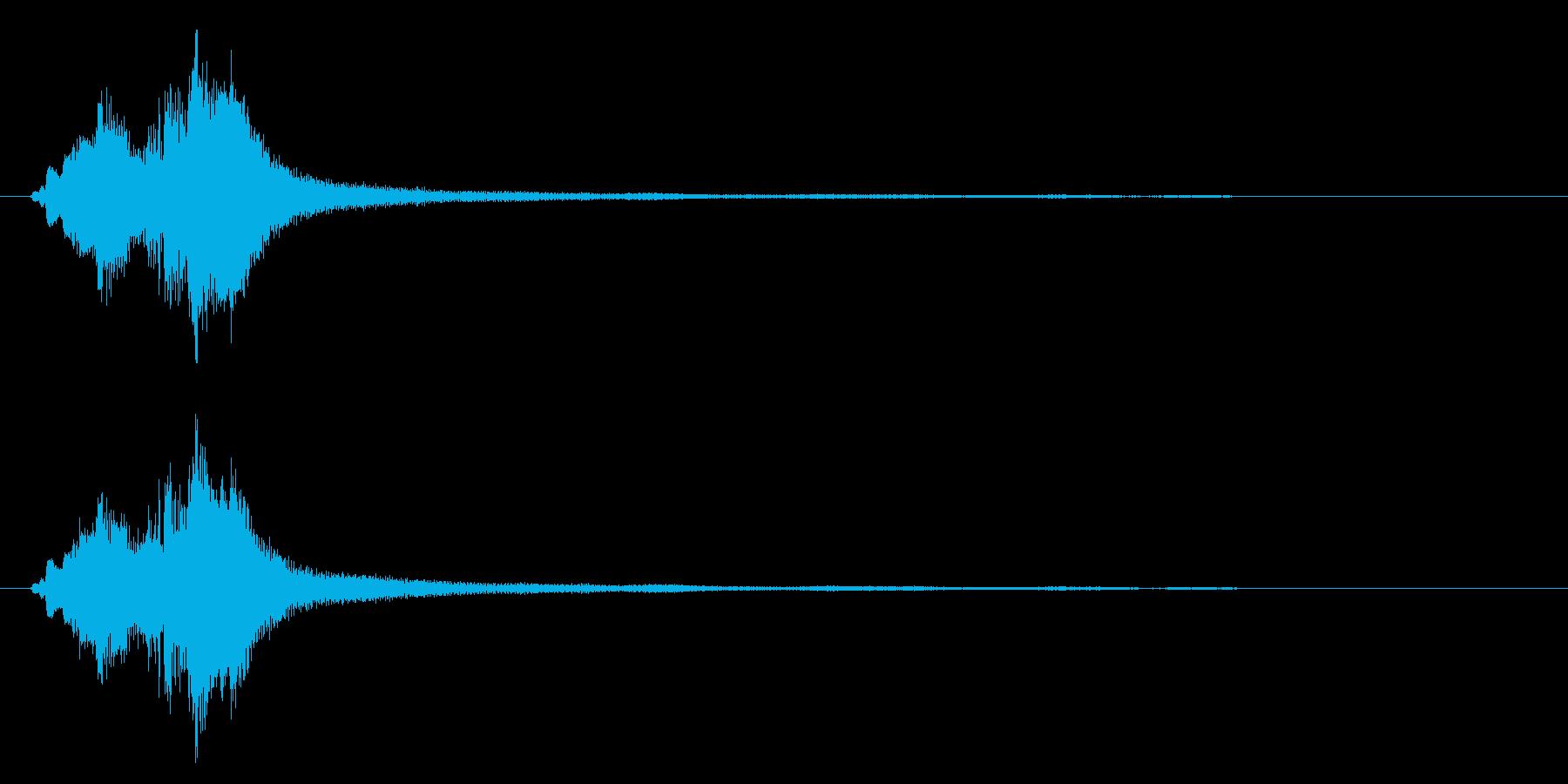 ハープグリッサンド下行1回上行1回~Ebの再生済みの波形