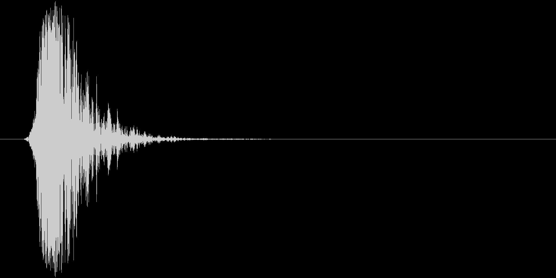 フォンッ!(空振り音)の未再生の波形