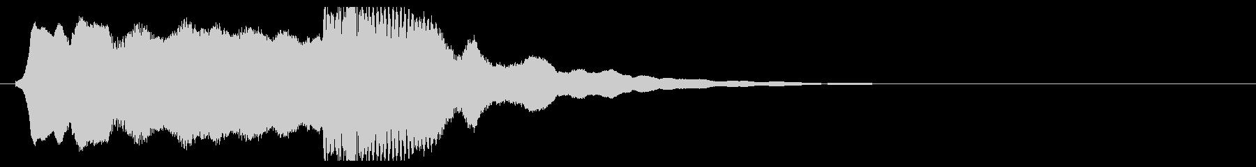 和風 篠笛の 切り掛け用ジングル2の未再生の波形