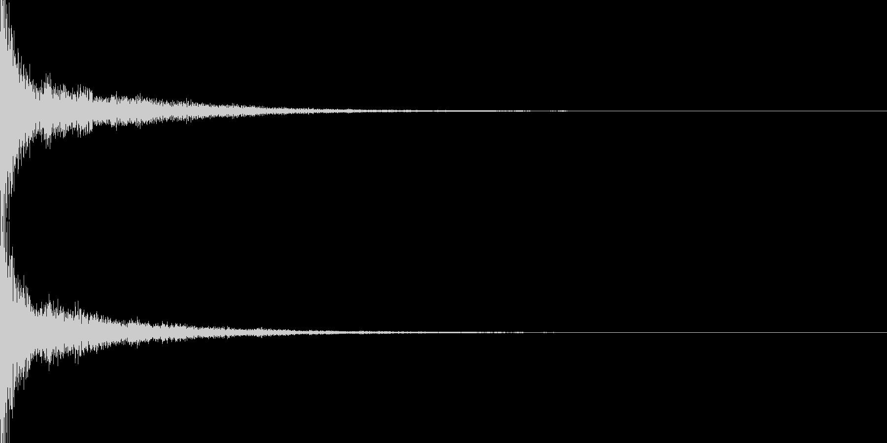 ピューン(決定)の未再生の波形