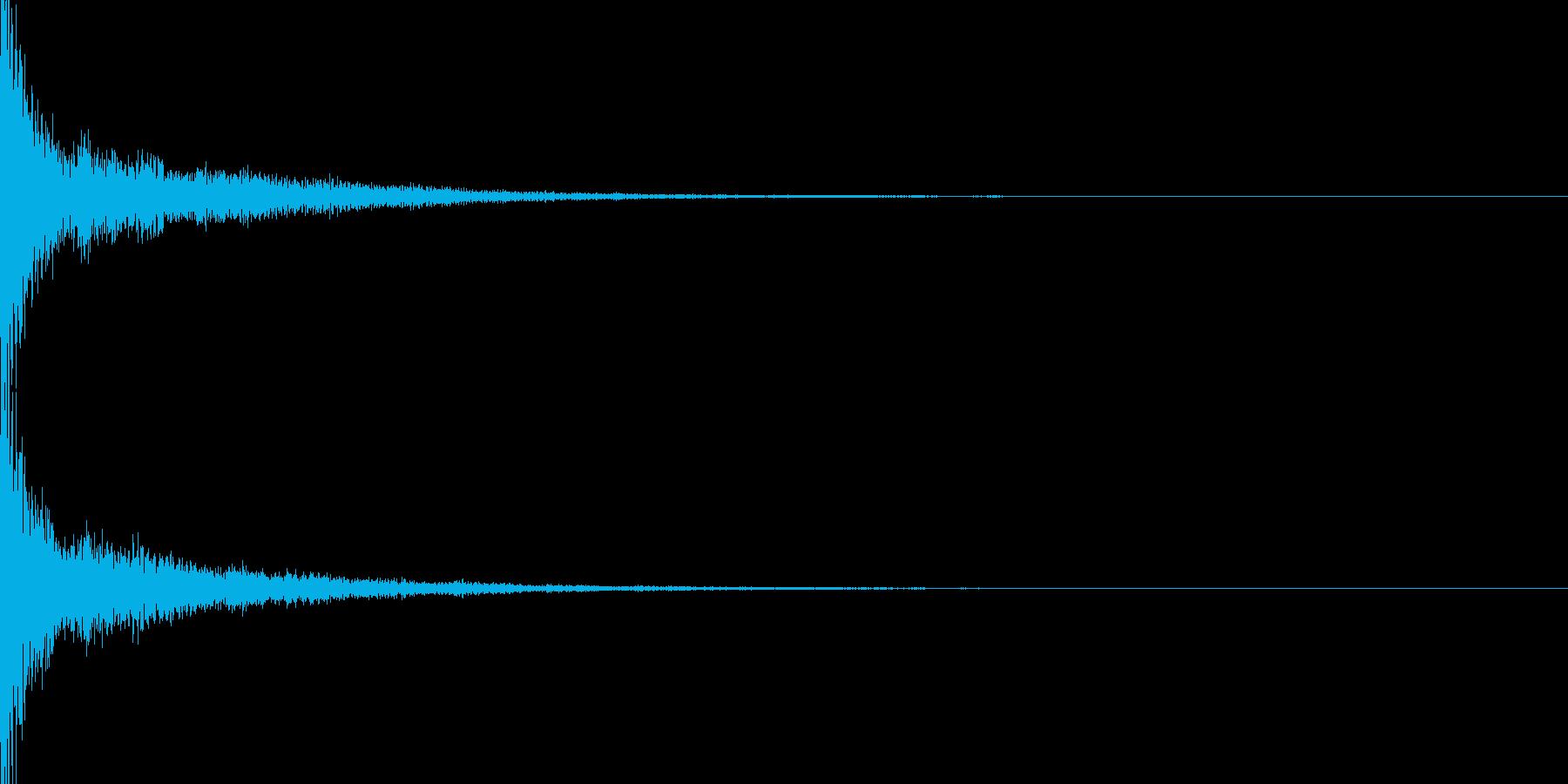 ピューン(決定)の再生済みの波形