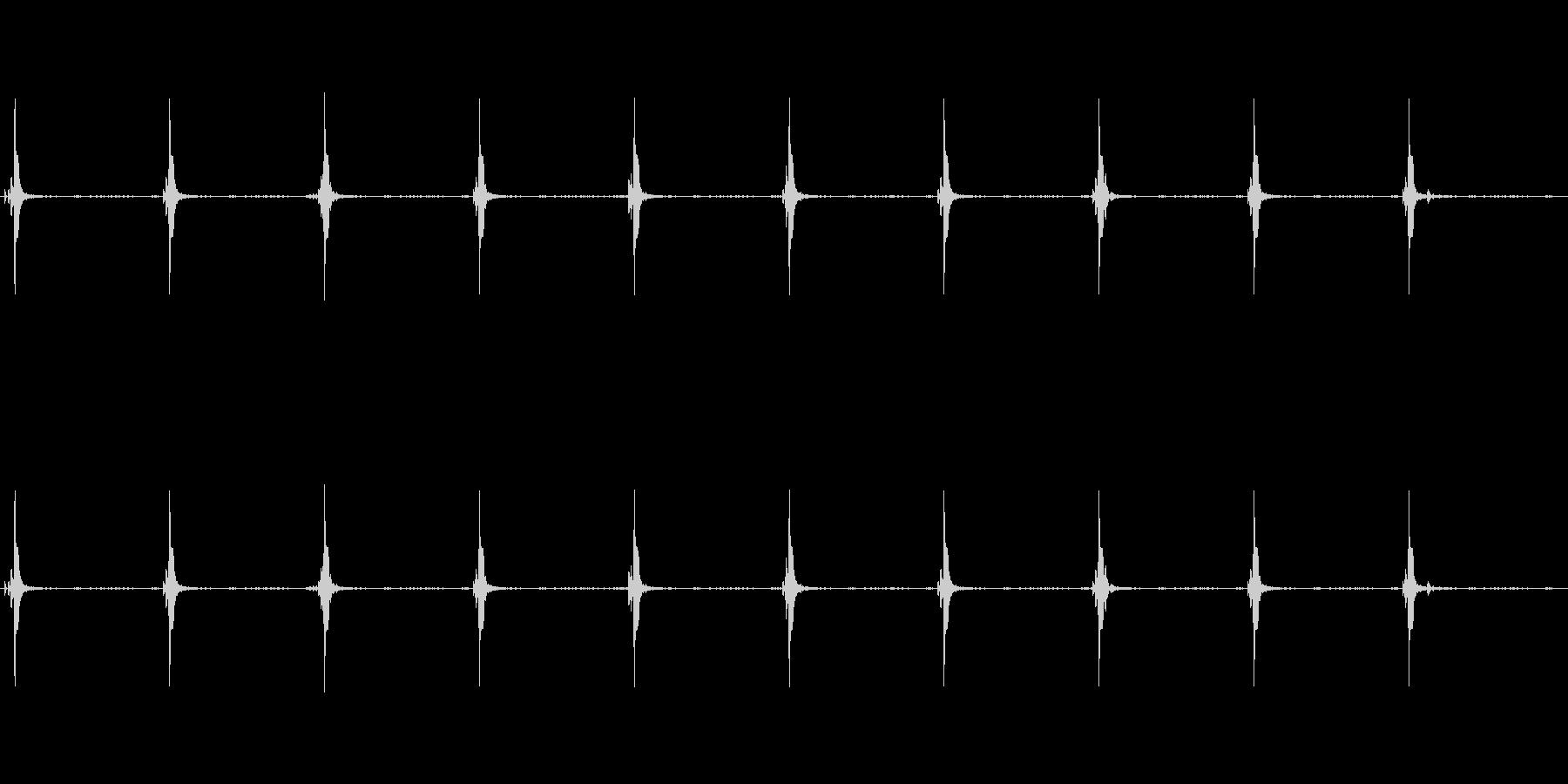 古い時計の音。10秒ループの未再生の波形