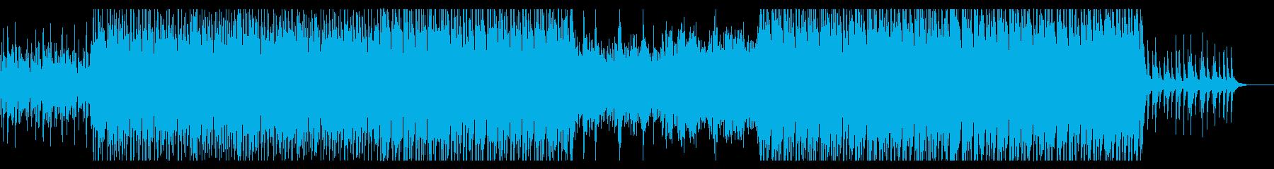 和をイメージしたミィデアムテンポのBGMの再生済みの波形