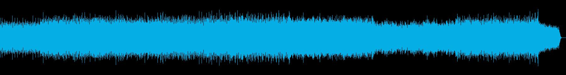 オーケストラとシンセを合わせた壮大な曲の再生済みの波形
