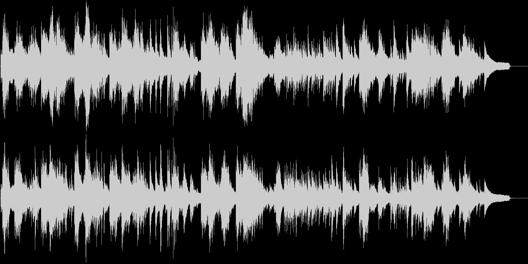 木の葉が落ちる様な儚さを表現したピアノ曲の未再生の波形