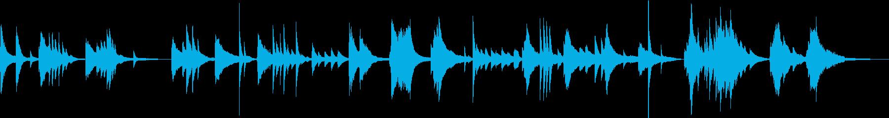 落ち着いた雰囲気のピアノ曲の再生済みの波形