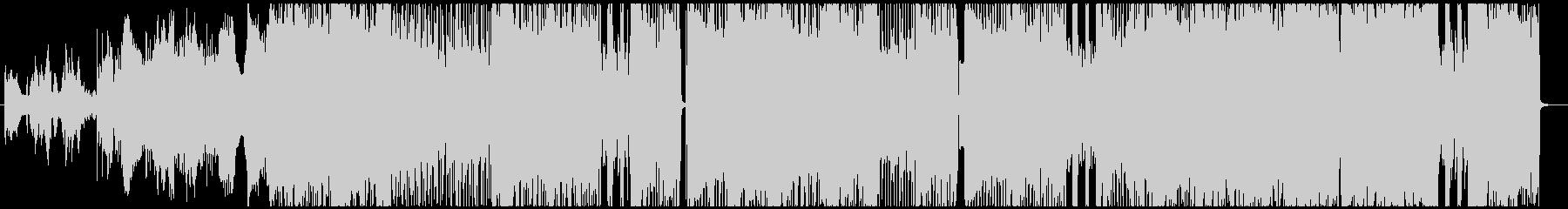 エスニック調なダークロックの未再生の波形