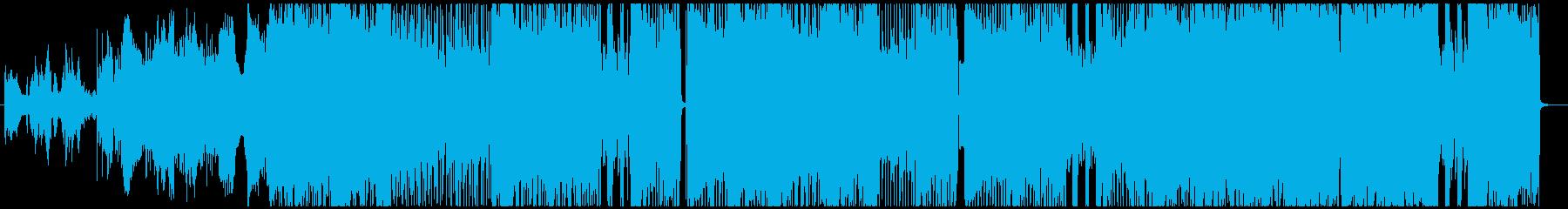 エスニック調なダークロックの再生済みの波形