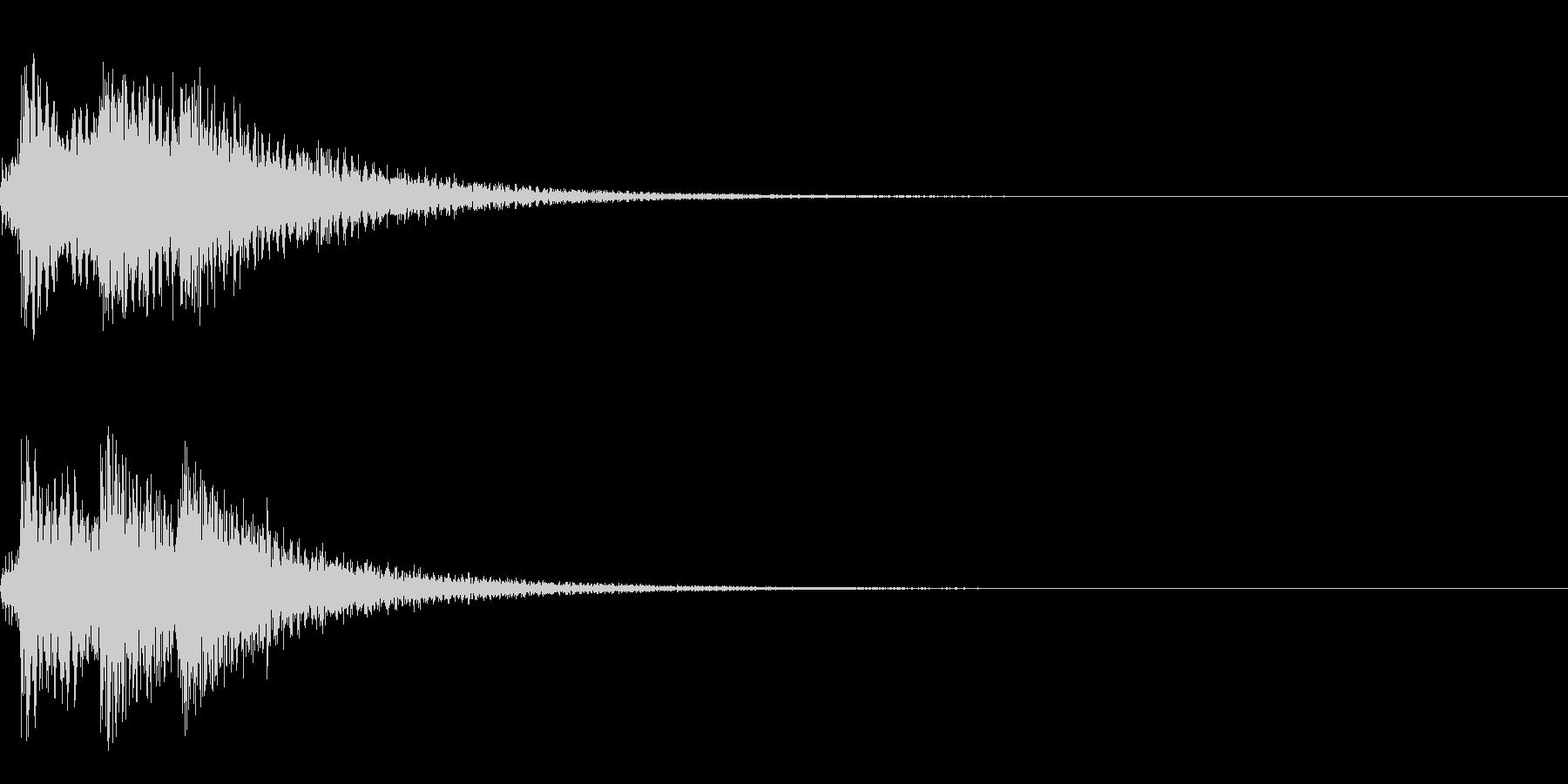 生ピアノ 重厚な和声 エンディング 終了の未再生の波形